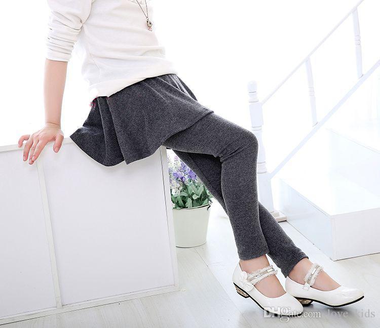 Новорожденных девочек юбка брюки осень Новая весна девушки леггинсы с юбкой девушки одежда дети дети брюки леггинсы брюки для девочек