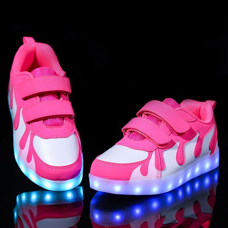 newest 21807 ee59a Licht Led leuchtende Schuhe Jungen Mädchen Sportschuhe Casual Led Schuhe  Kinder Glühende Turnschuhe