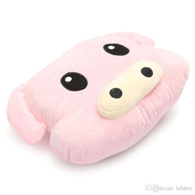 Nettes Schwein Piggy weiche Kissen-Rosa Emoticon-Kissen-Plüsch-Spielzeug gefüllte Puppe Geschenk Puppe Halt Kissen gefüllt Spielzeug Geburtstags-Geschenk-LA022