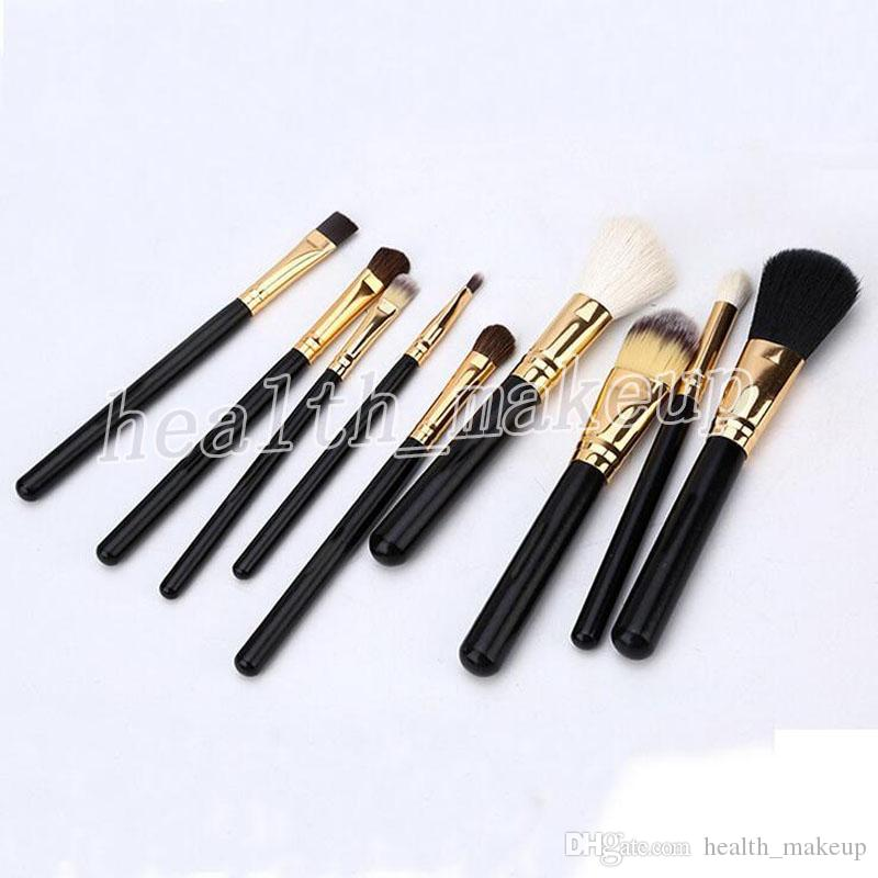 Factory Makeup Brush 9 Pieces Sets High Quality Professional Face Eyes Palette Foundation Making Up Brushes Kit + Free Cosmetics Bag DHL