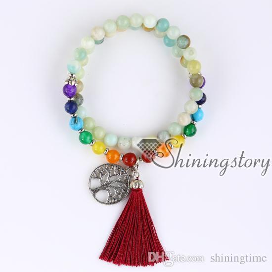 54 meditation beads 7 chakra bracelets spiritual healing jewelry buddhist  prayer bracelet yoga mala tibetan prayer beads meditation jewelry