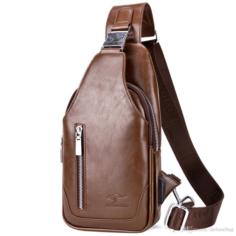 c6d1b7d8d130 2019 Quality Assurance CHEST BAG MEN Anti Theft Magnetic Clasp Leather Bag  Messenger Bag Fashion Men S Bags From Deluxebag