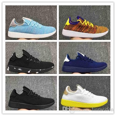 2018 Originals Pharrell Williams Tennis Hu Shoes Stan Smith 3D Primeknit  Sports Women Men PW Human Race Mesh Casual Light Hiking Shoe Blue Shoes  Clogs For ... 368524191c