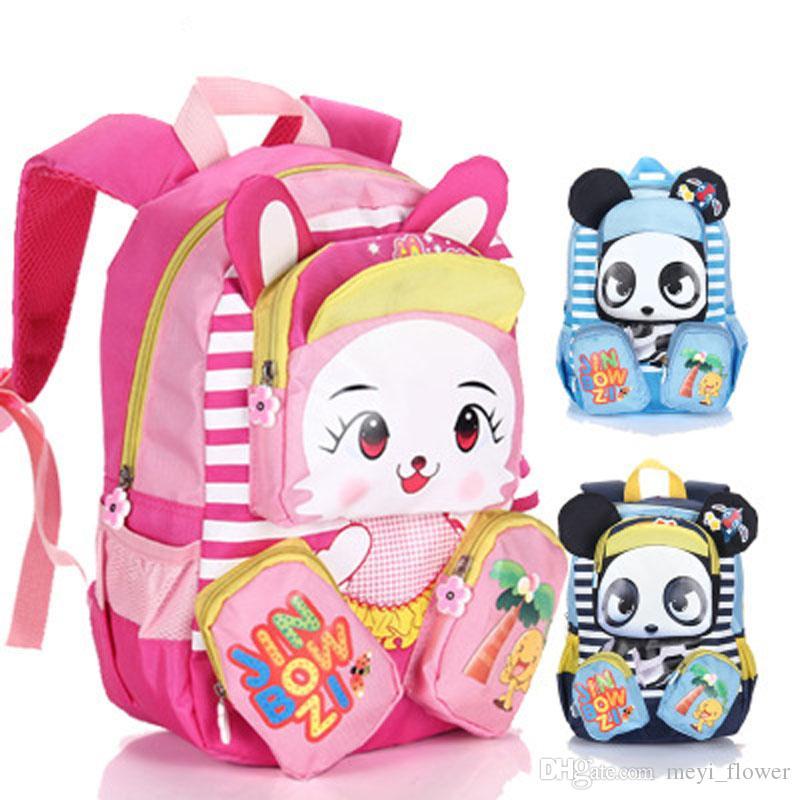 6ef8855c68fd Wholesale School Bags For Girls Boys Children Kindergarten Rabbit Panda  Schoolbag Kids Bookbags Panda Backpack Nylon Child Bags Girl Backpacks Pink  .