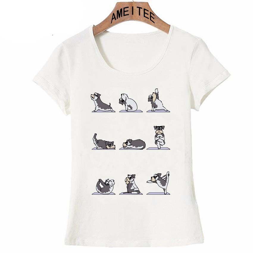 52ebccc2 Hipster Miniature Schnauzer T Shirt Summer Fashion Women T Shirt Funny Dog  Design Casual Maiden Tops Cute Female Tees Girl Shirt One Day T Shirt Best  Site ...