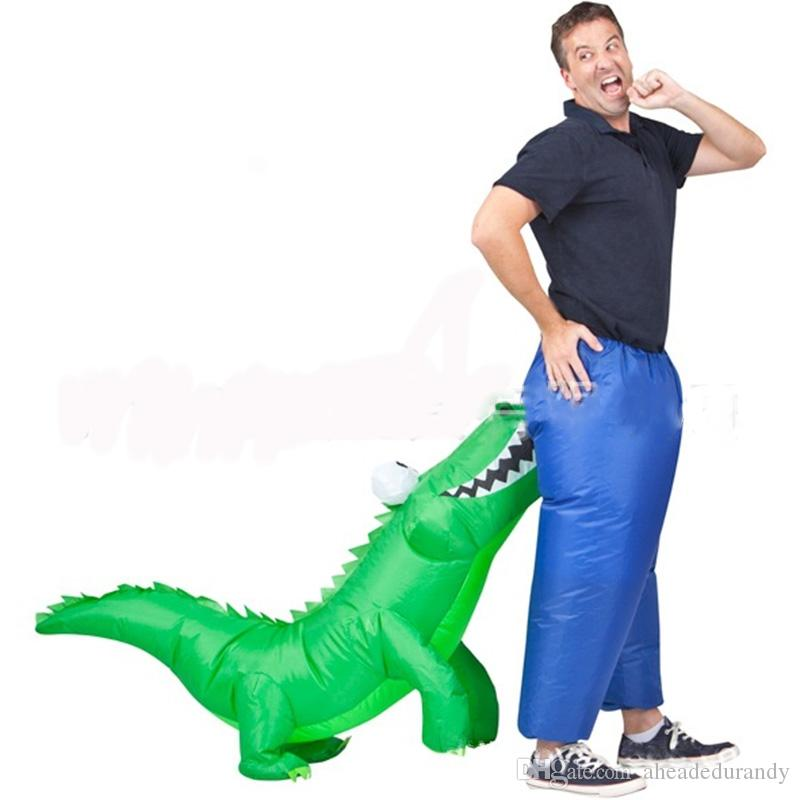 Halloween Cosplay Carnival Inflatable Shark mascot costume Party Costumes for women men Animal dinosaur