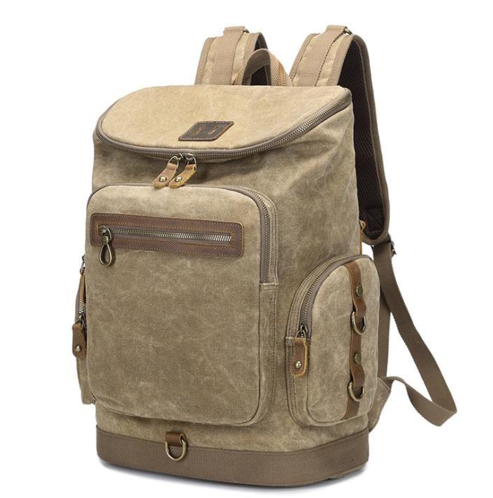 9af659dc8d Backpack Manufacturers Direct Students Retro Backpack Travel Backpack  Waterproof Large Capacity Oil Wax Canvas Bag Wholesale Jansport Backpacks  School Bags ...