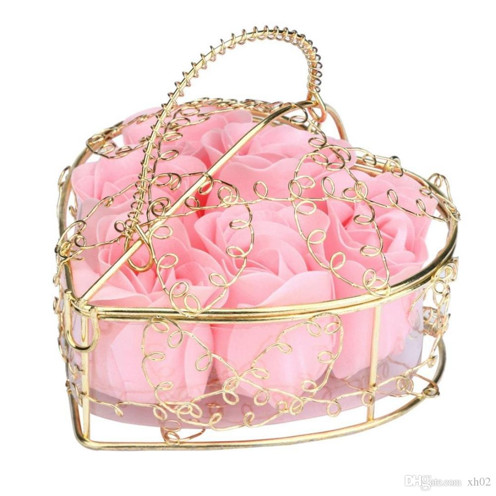 6 Roses Scented Rose Flower Petal Bath Body Soap Wedding Party Gift ...