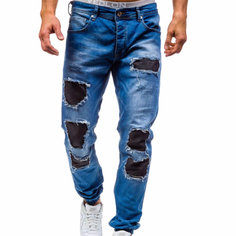 3559f126399 2019 2017 New Men S Jeans Ripped Beggar Holes Pants Korean Style Elasticity  Casual Male Trousers Cool Stretch Man Denim Pants 38 From Vanilla04