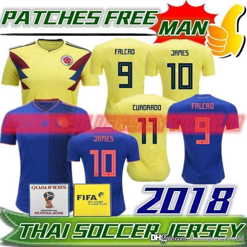 4ca406034d8 Colombia 2018 World Cup Soccer Jerseys Colombia Home Yellow Away ...
