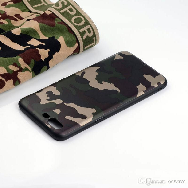 on sale d3309 469b3 Camouflage cover oneplus 5 case silicone phone coque new design TPU soft  Anti-knock funda capa Sports style