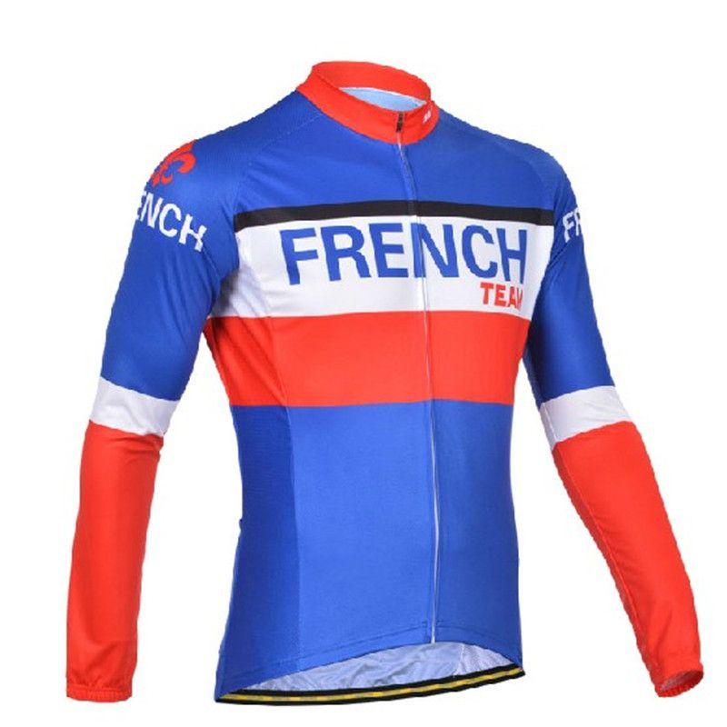 a368523e3 2018 FRENCH Cycling Jersey Men Long Sleeve Thin Retro National Flag Cycling  Clothing Mtb/Road Bike Clothes Quick Dry Bike Jersey Baseball Shirts  Cycling ...