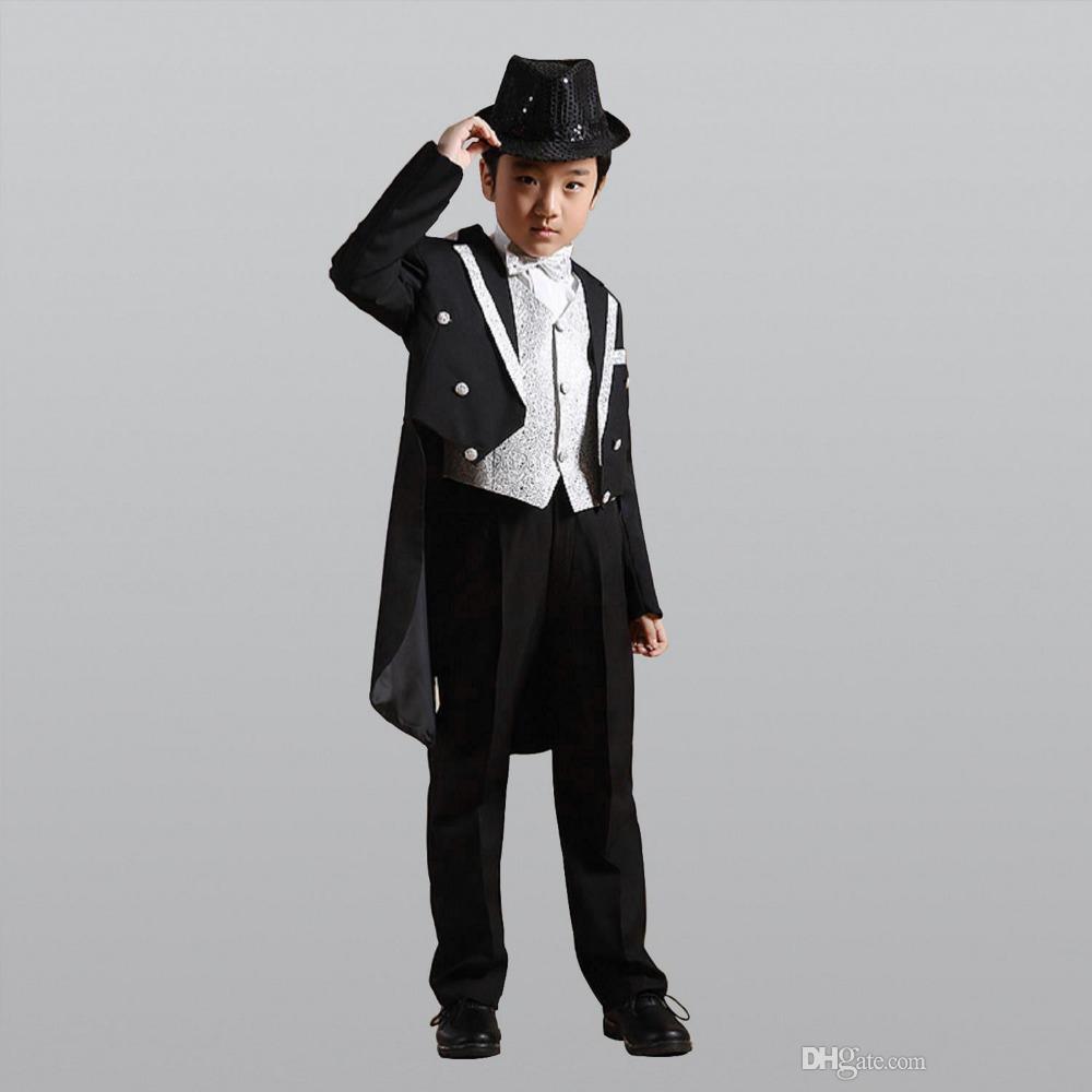 Großhandel Mode Weiß / Schwarz Baby Anzug Kinder Blazer Anzug Für ...