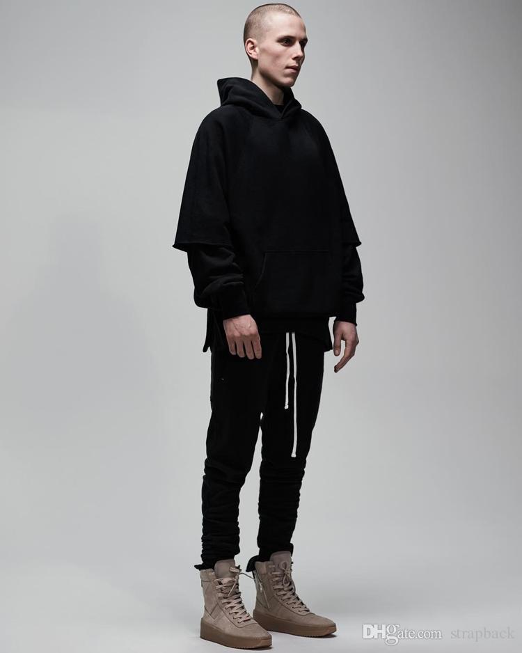 New black Colour FOG Justin Bieber style Ankle-Zip Cotton Slim pants men hiphop double track pants crawler Leg Zip Vintage Jogger trouser