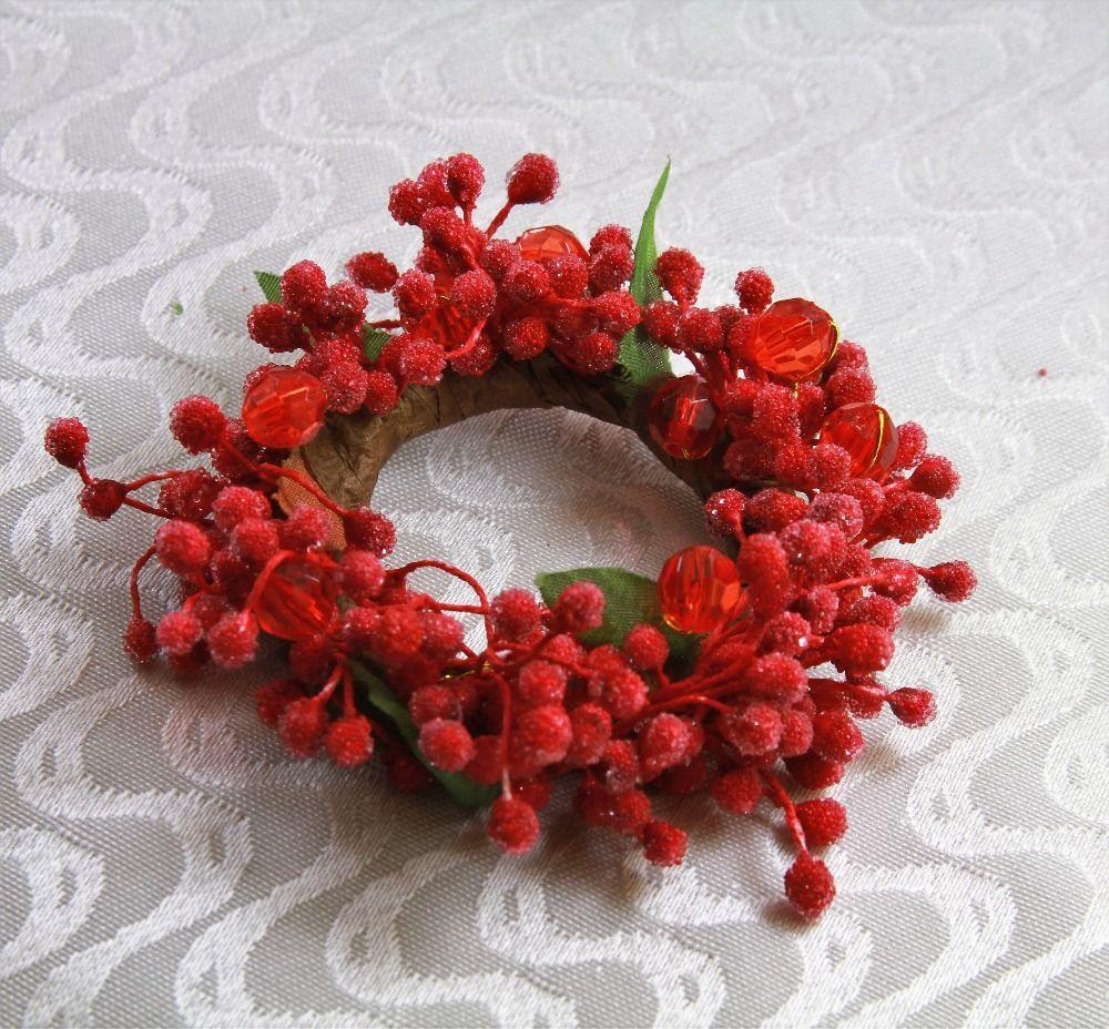 Christmas Napkin Rings Pearl Flower Napkin Ring Wedding Decoration