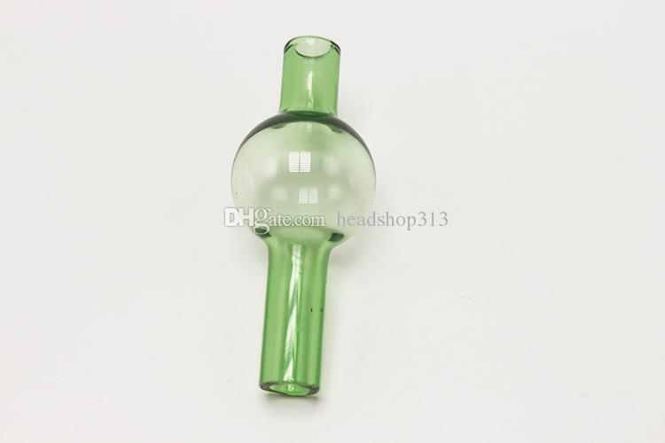 Colored Glass Carb Cap Banger For XL Enail Domeless Nails Dab Rig With Hold For Dab Rig Nail Caps Water Bong Pipe