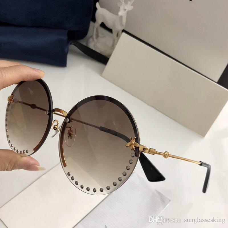 Großhandel Gucci Sunglasses Custom 2018 Neues Design Rahmenlose ...