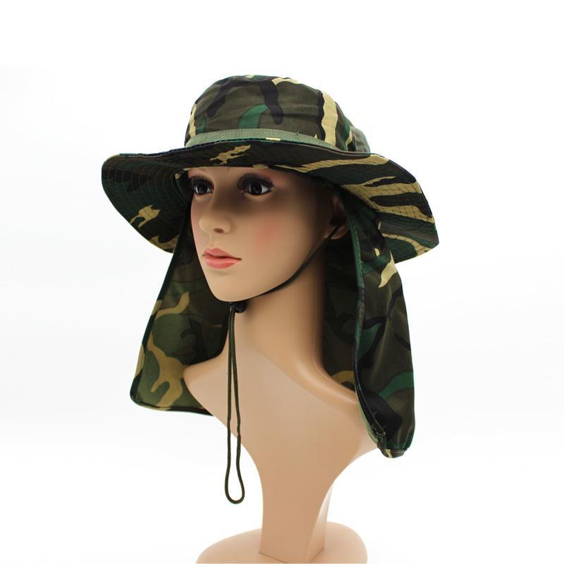 2019 Wholesale Military Camouflage Bucket Hats Fishing Fisherman Hunting  Men Adult Safari Sun Protection Hunter Jungle Mountain Cap From Huiqi02 5eca0203a8f
