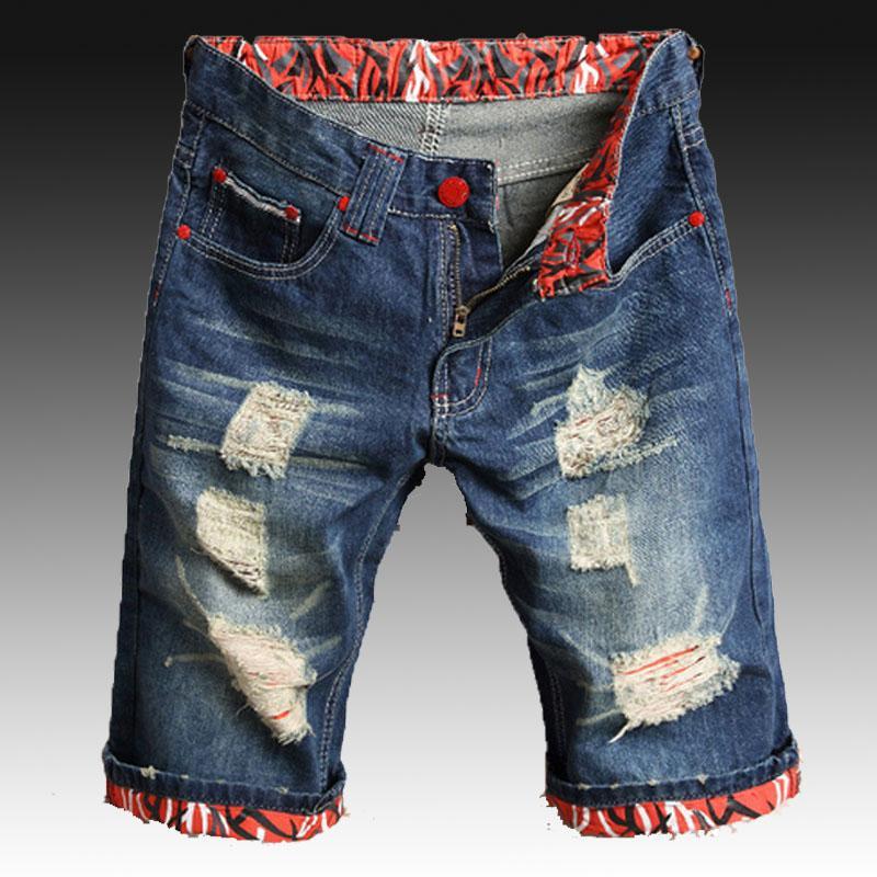 9462af21360afd Acquista Pantaloncini In Denim Da Uomo Hip Hop Danza Pantaloncini Da Surf  Con Zip Graffiti Slim Fit Jeans Corti Beach 28 42 Taglia A $34.44 Dal  Benedica ...