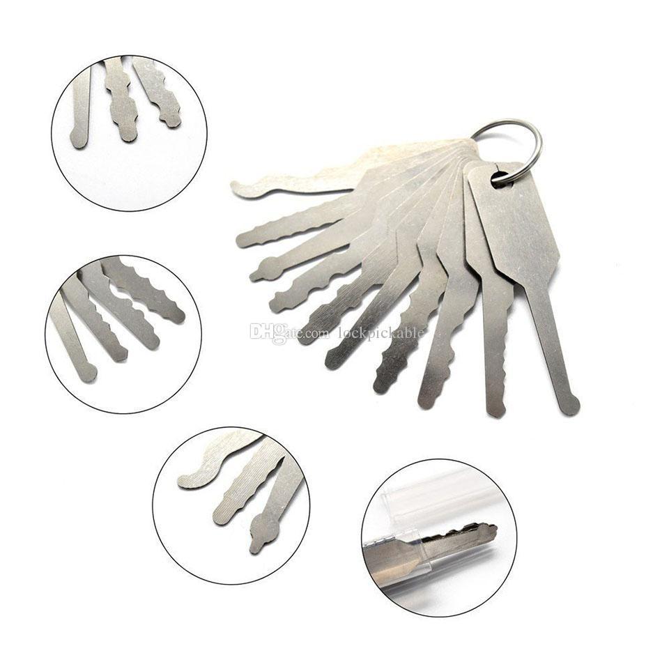 Auto Jigglers 10 Stück Tryout Schlüssel für Autos - Master Key Schlosser Auto Jigglers Auto Türöffner für Kfz-Schlosser