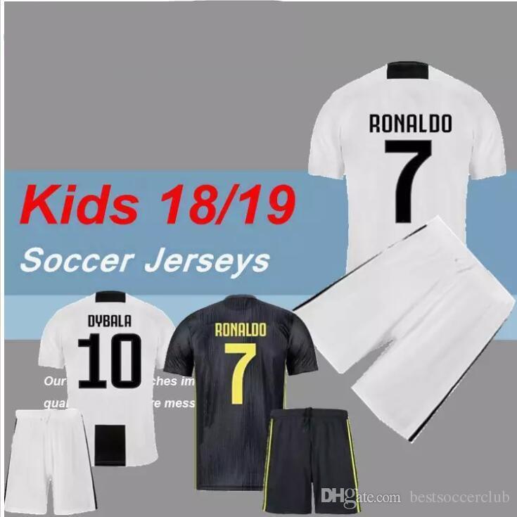 Ronaldo 18 19 Soccer Jersey Kids Kit Football Shirt Federico ... 6763ec174