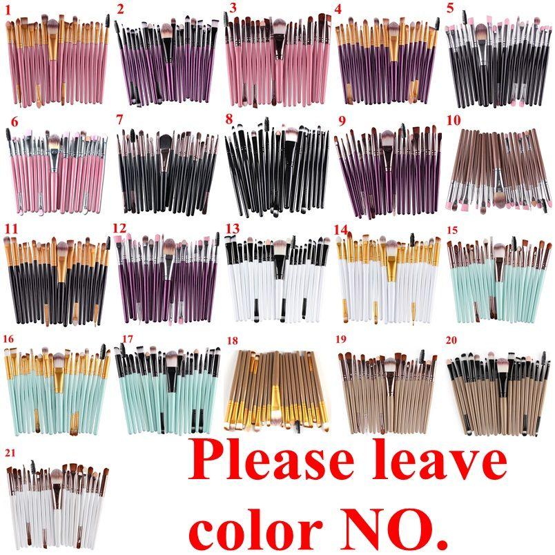 20 Adet Kozmetik Makyaj Fırçalar Seti Pudra Fondöten Göz Farı Eyeliner Dudak Fırçası Aracı Marka Makyaj Fırçalar güzellik araçları pincel maquiagem