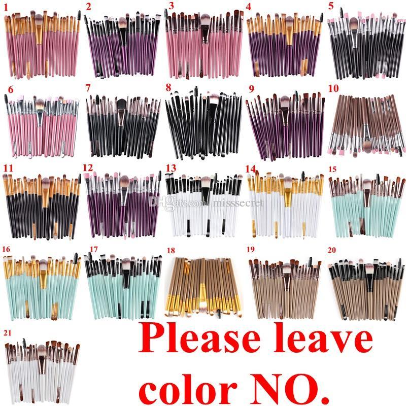 20 Unids Maquillaje Cosmético Pinceles Set Powder Foundation Eyeliner Eyeliner Lip Brush Tool Marca Maquillaje Pinceles herramientas de belleza pincel maquiagem