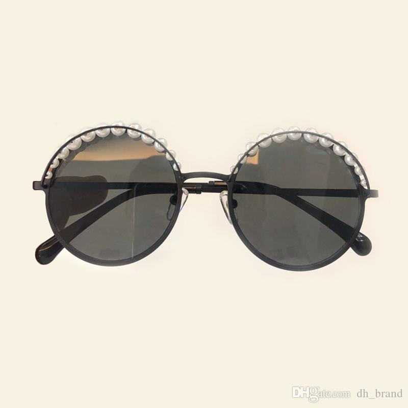 b12167b274b Peals Round Frame Sunglasses Circle Alloy Metal Women Gradient ...