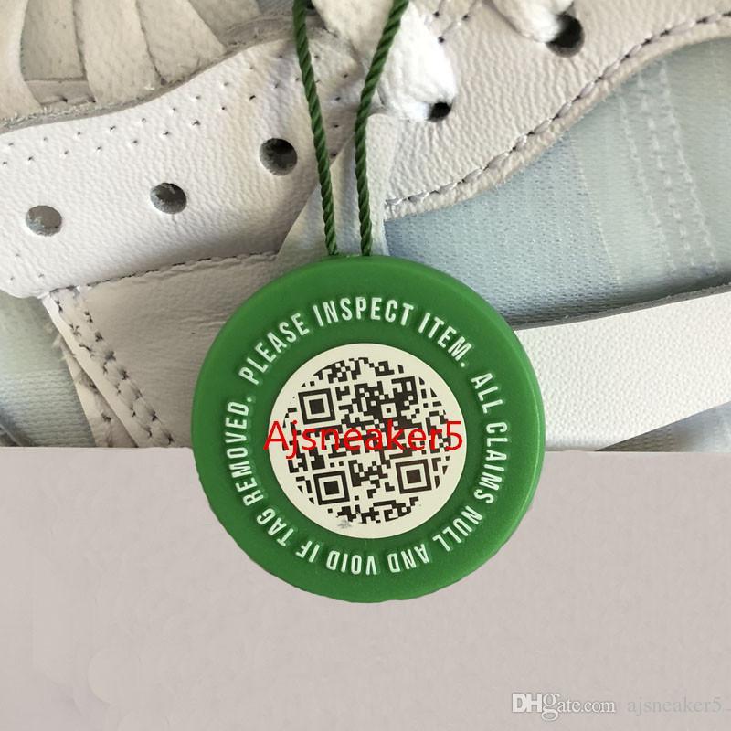 cee533d28 Nova etiqueta de código QR StockX Verificado X Autêntico Tag plástico sapato  fivela estoque X Verde verde circular Tag para OFF sapatos verde branco