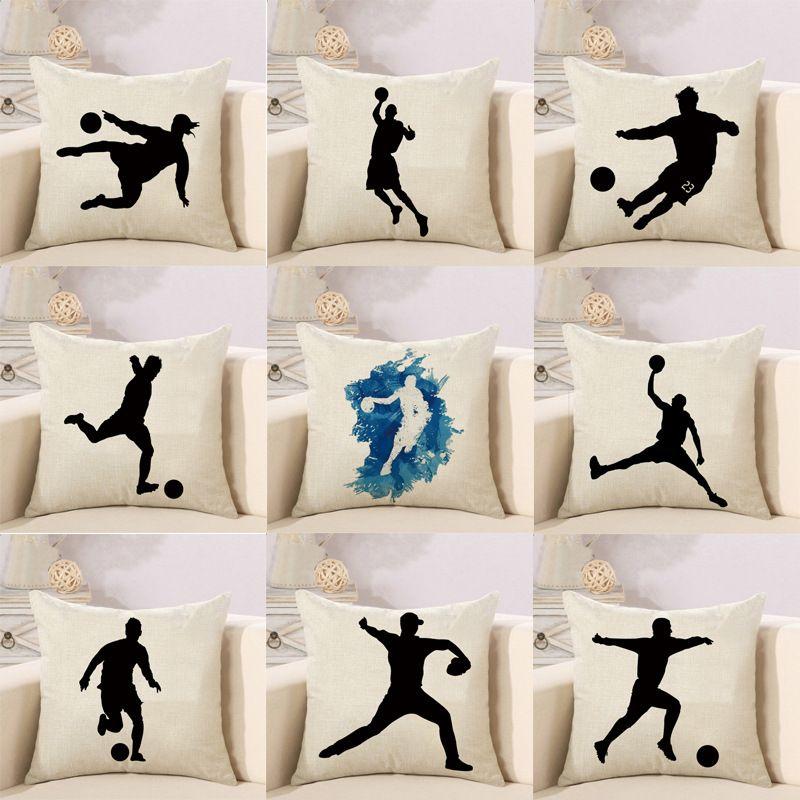 2bb2b43b8b2ccf Almofadas decorativas capas de almofada capa de travesseiro Copa do mundo  de futebol travesseiro de linho capa de almofada