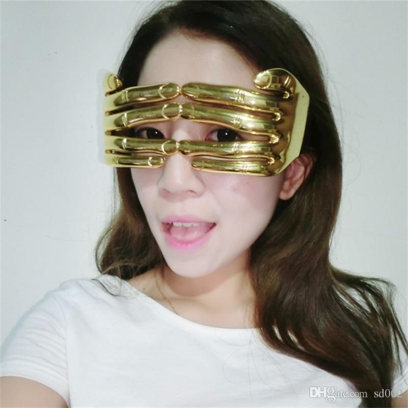 Criativo Engraçado Óculos Dedo Shaped Spectacles Bola Masquerade Prop Decoração de Halloween Suprimentos Venda Quente 7 5sf C