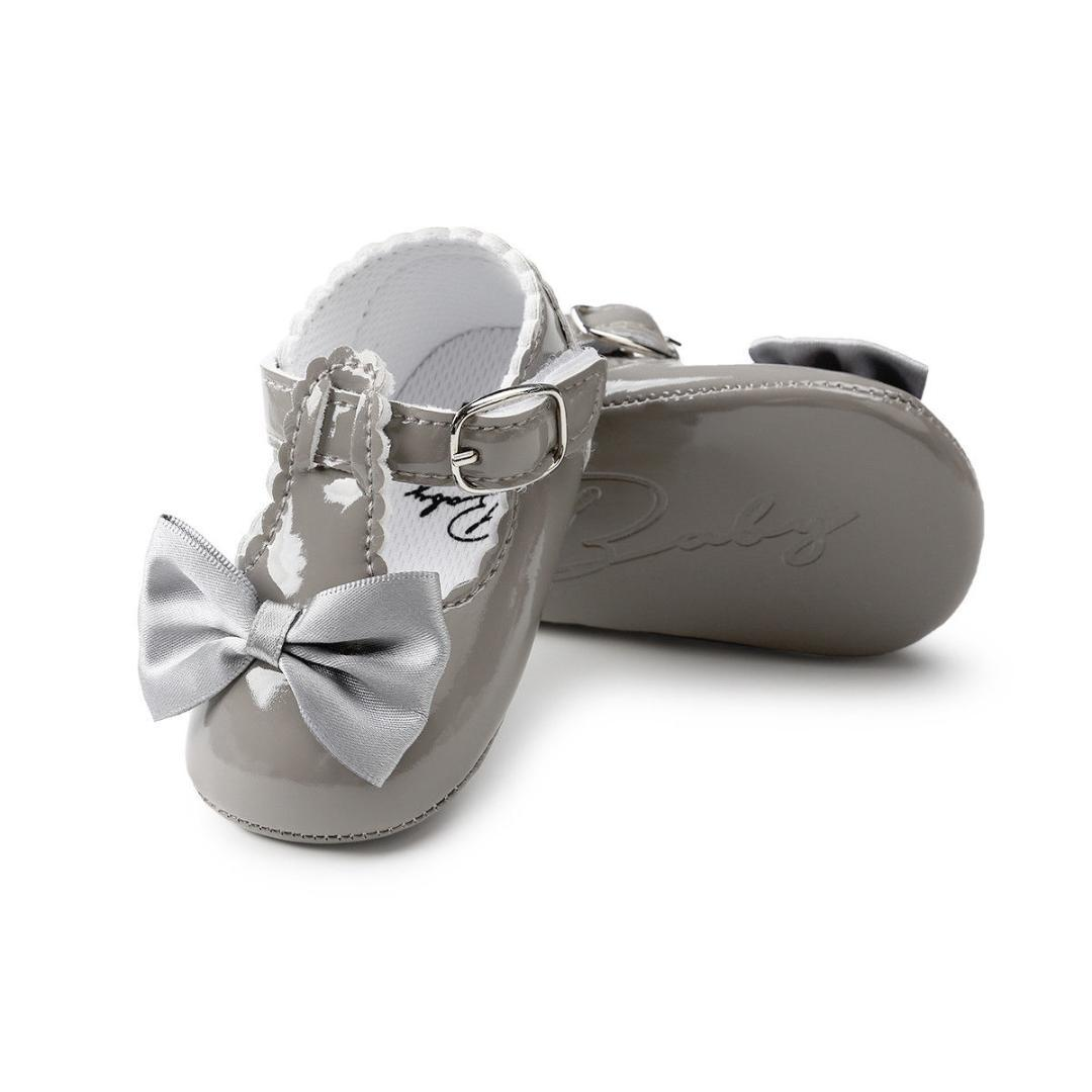 50ac0f031c5 2019 Wedding 2018 PU Baby Baptism Kids Girls Infant New Shoes Party First  Toddler 0 18M Newborn Brand Bow Walker Shoes Christening From Cassial