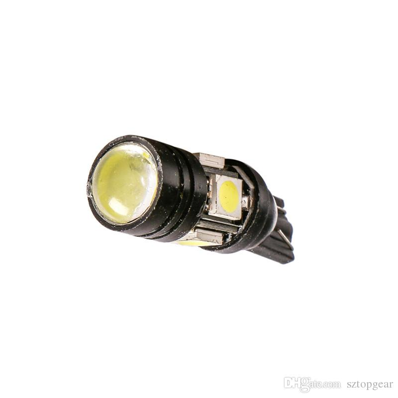 T10 W5W Car LED 5050 SMD Bulbs With Projector Lens For Interior Packing Lamp Auto Clearance Lights 12V Car Styling White