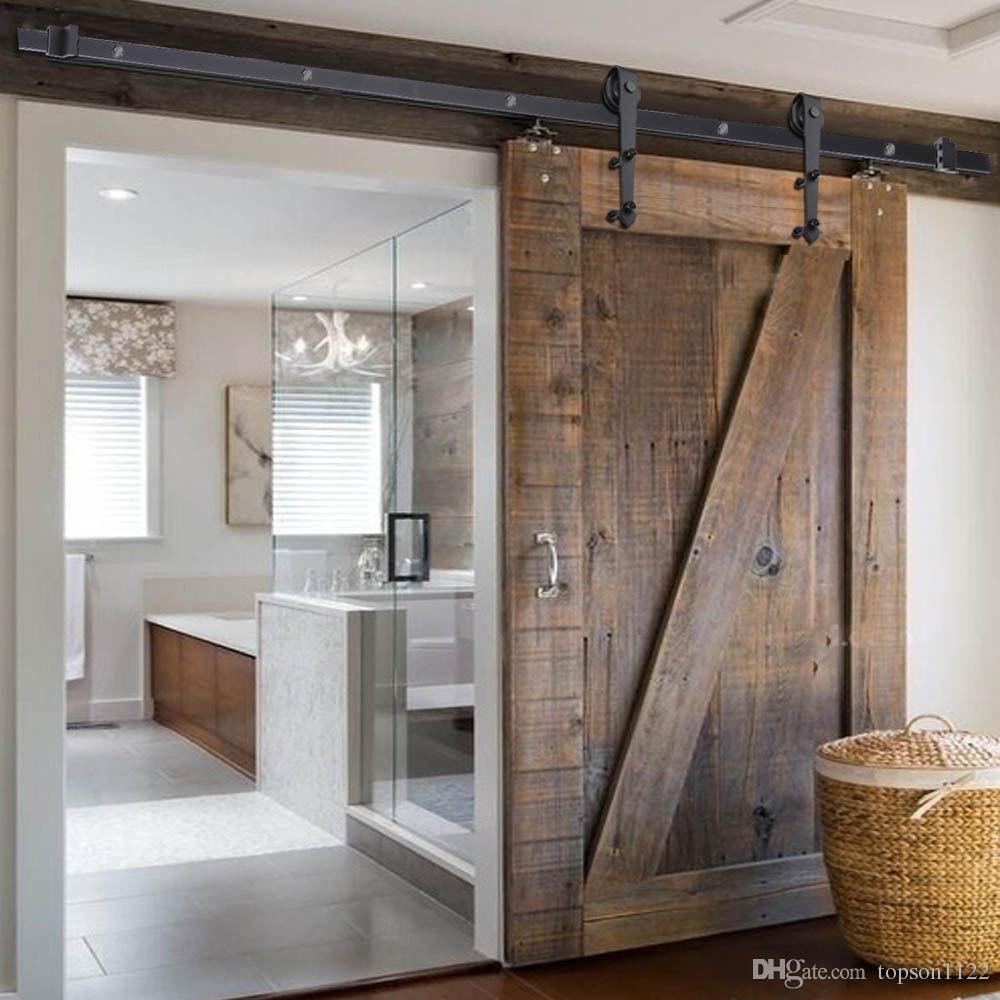 Wooden Barn Door Kits Arrows Shape Wood Door Sliding System Door