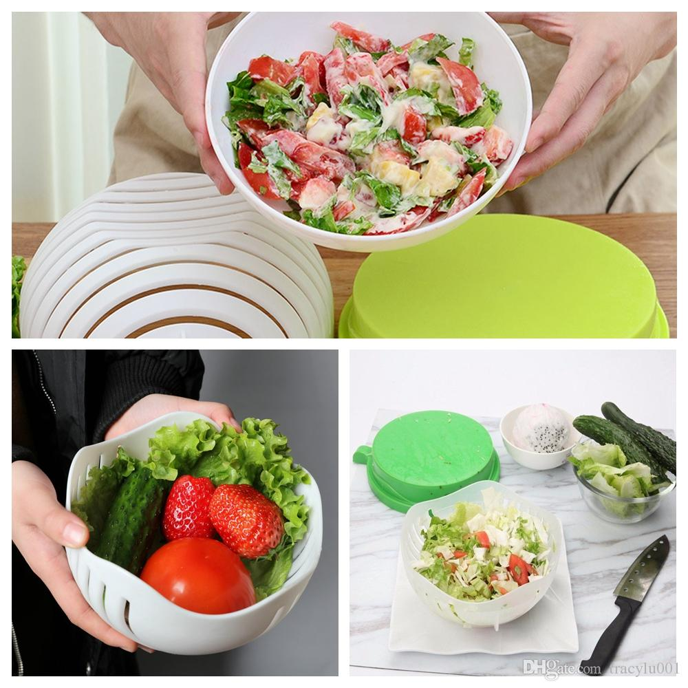 Fruit Vegetables 60 seconds salad Cutter bowl maker support dropshipping US UK Local Stock Fulfillment with packaging box