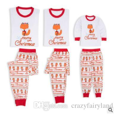 2acbf564 Christmas Pajamas Set Family Matching Outfits Baby Cute Fox Long Sleeve  Sleepwear Xmas Mother And Daughter Father Son Matching Clothes Family  Matching ...