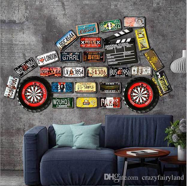 2019 Vintage Metal Tin Signs For Wall Decor Route 66 Cars Licence