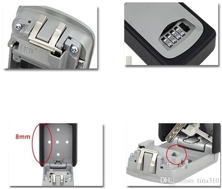 Venta caliente Inicio tipo de montaje en la pared caja de almacenamiento de clave al aire libre candado caja de clave contraseña organizador caja T3I0171