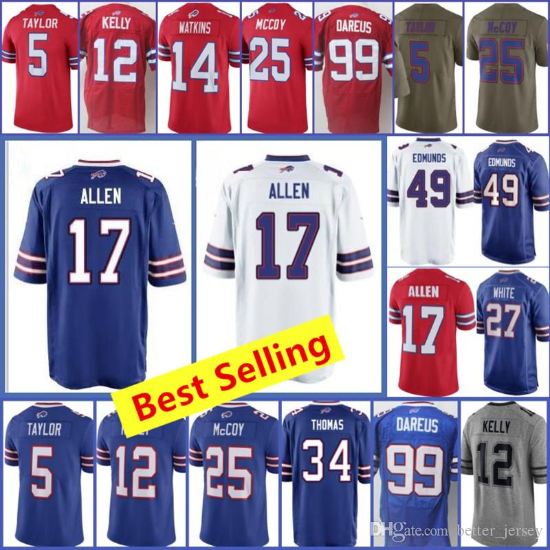 68ada1ad7 2018 Mens Buffalo Bill Jerseys 17 Josh Allen Jersey 49 Tremaine Edmunds 27 Tre Davious  White Jersey 95 Kyle Williams All Stitched Jerseys From Better jersey ...