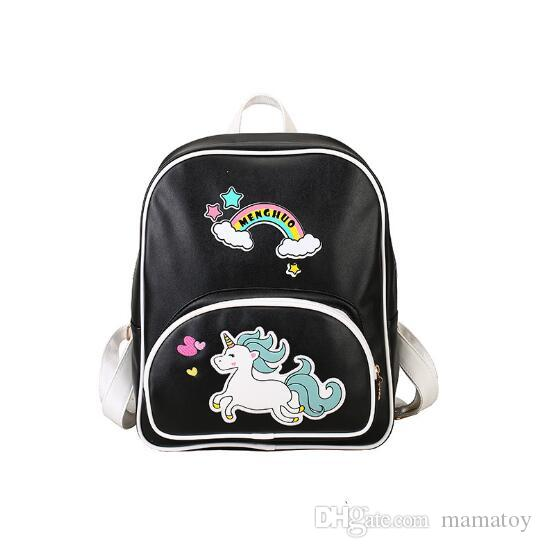 Unicorn Backpacks For kids With Reinforced Straps PU Leather Wear Resistance of Boys and Girls