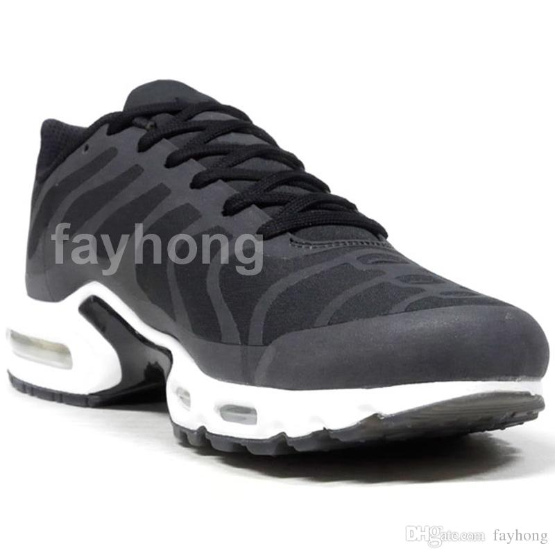 HOT 2018 TN Plus NS GPS SP Grande Logotipo Pack Mens Sneakers Comfy Sapatos de Estilo de Vida Para O Esporte Masculino Correndo Formadores Sapato 2018 Novos Sapatos de Grife