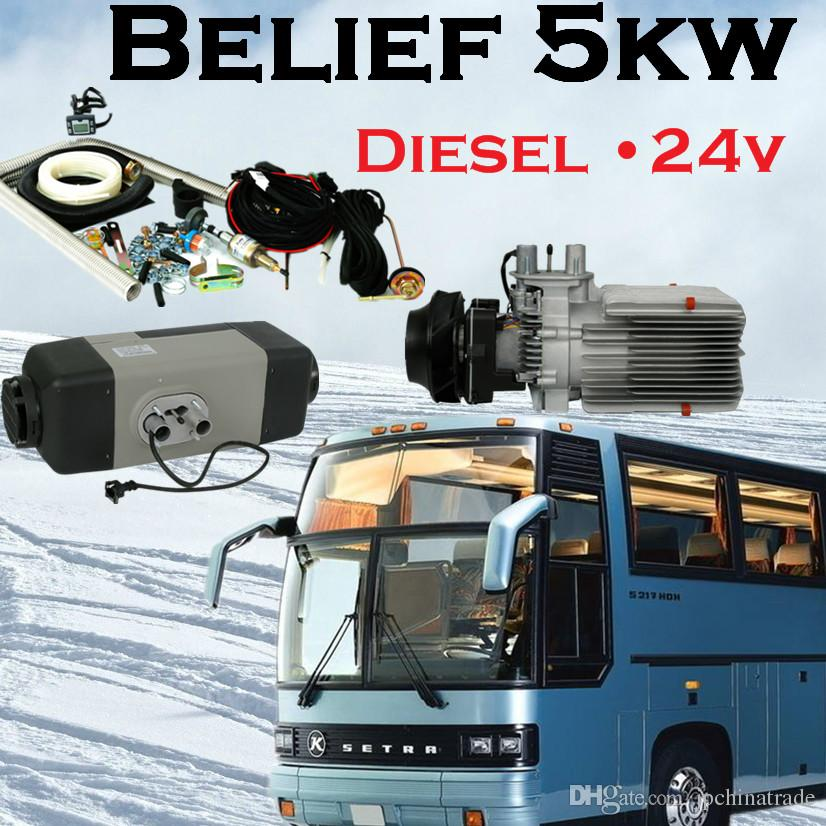 Electric car heater Belief 5kw diesel 24v air parking heater for truck cab  bus boat ship cabin RV