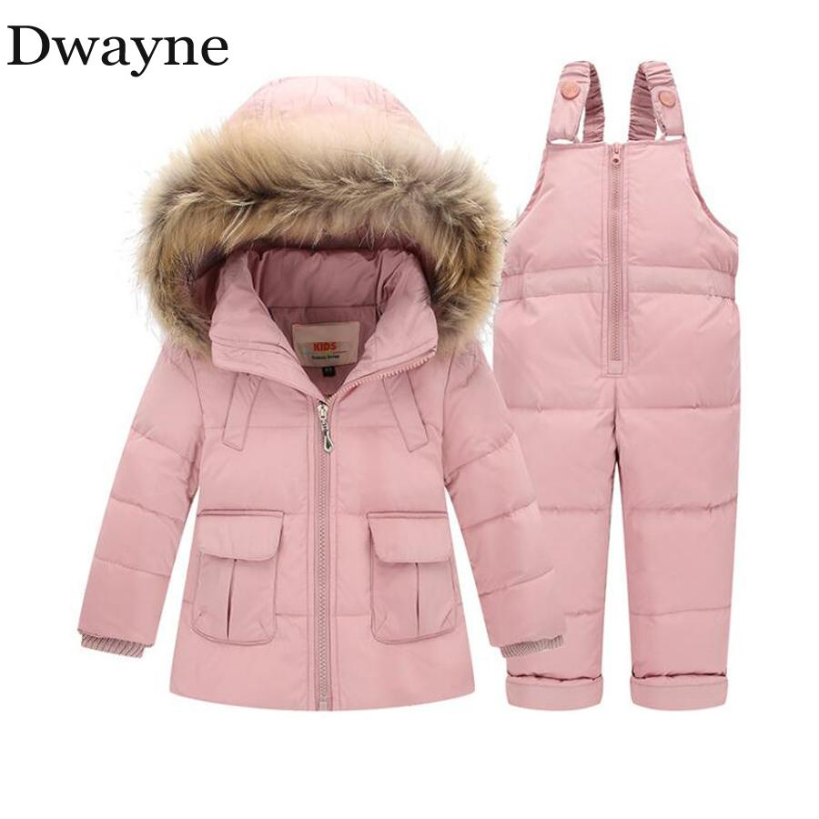 eda75a18f 1 2 3 Years Kids Girls Down Winter Jacket Suit Toddler Infant Baby ...