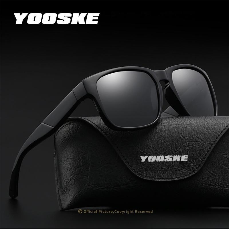 6fc9af60f2 YOOSKE 2018 New Design Men Polarized Sunglasses Women Classic Square ...
