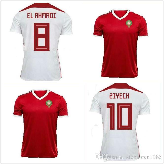 0ebe338c8 Compre 2018 Copa Do Mundo Marrocos Fora De Casa Terceiro Jersey Jersey 2018  2019 Marrocos Verde Branco Vermelho Camisa De Futebol Camisa De Futebol S  Xxl De ...