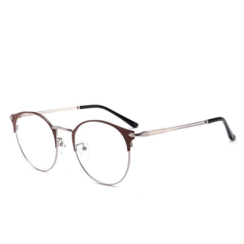 0adba13da23 Metal Retro Glasses Frame Female Korean Version of the Tide Round ...