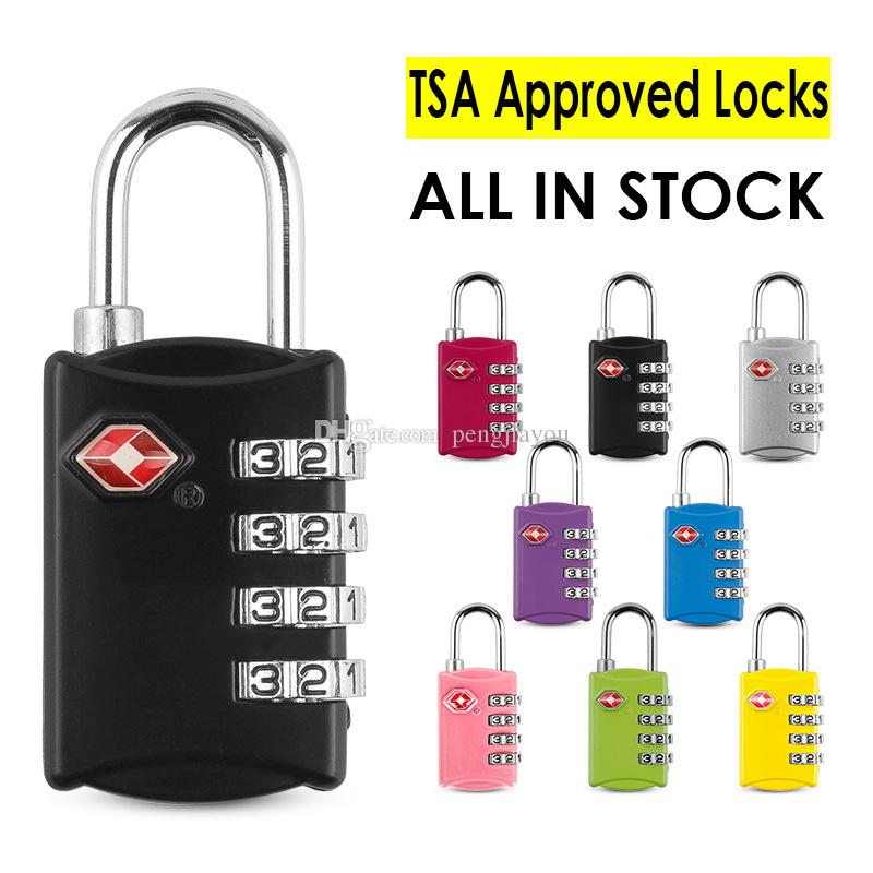 8a73315a8b02 TSA Approved Luggage Locks - 4 Digit Combination - Best TSA Accepted Lock  For Travel Safety and Security - TSA Travel Suitcase Lock