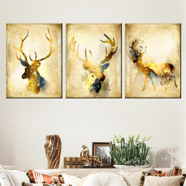 Wholesale 3D Square Diamond Embroidery Deer Picture Diamond Painting ...