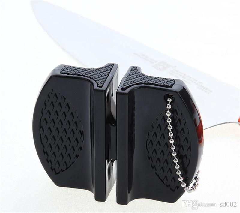Mini Afilador de cuchillos rápido Acero inoxidable Cerámica Varilla Cuchillos Piedra de afilar Aceros de tungsteno Afiladores de diamante Herramientas de cocina 2 7jd YY