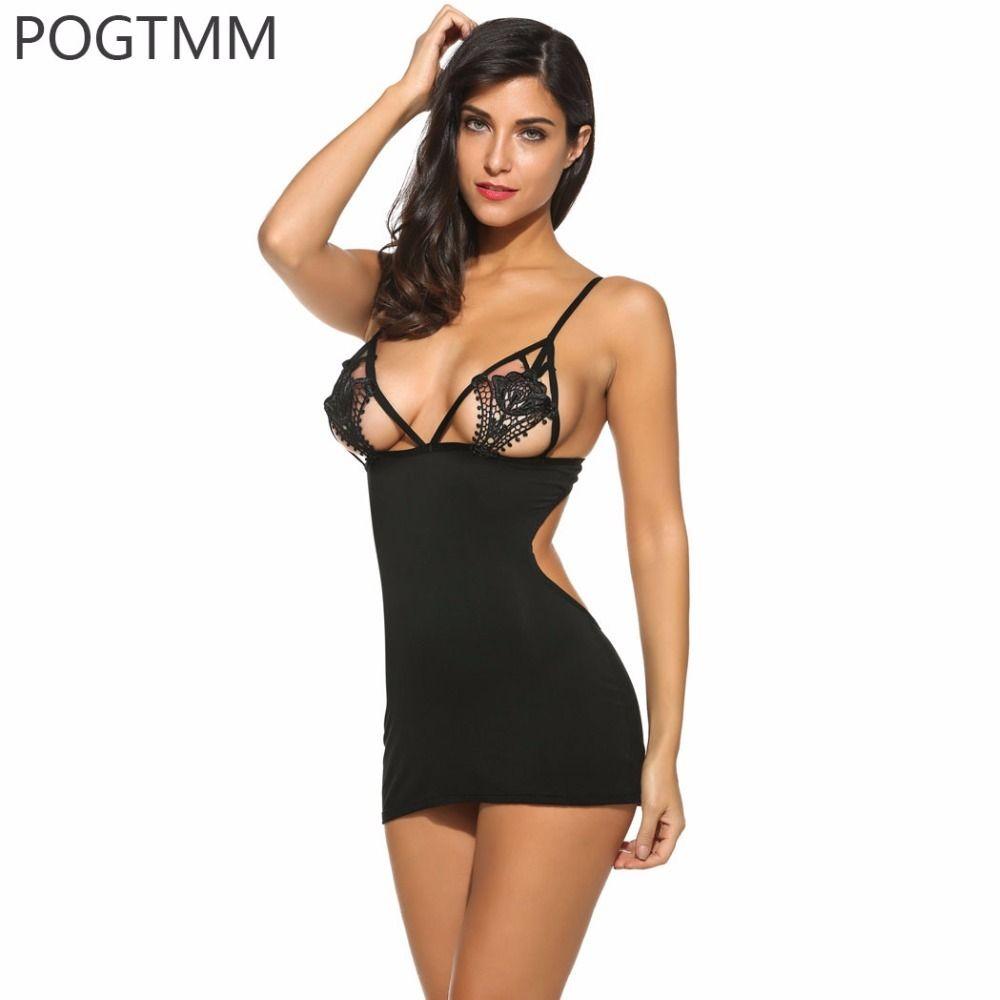 Lojas De Roupa Lingerie Sexy Erótico Hot Mulheres Mini Babydoll Sleepwear  Crochet Lace Camisola Feminino Vestido De Noite Transparente Sex Underwear  Set ... 0e84e7c47ed